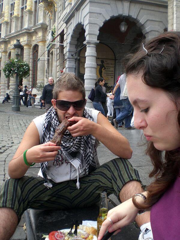 Últimos ahorros empleados en comer bien. Bruselas. Mi primera vez