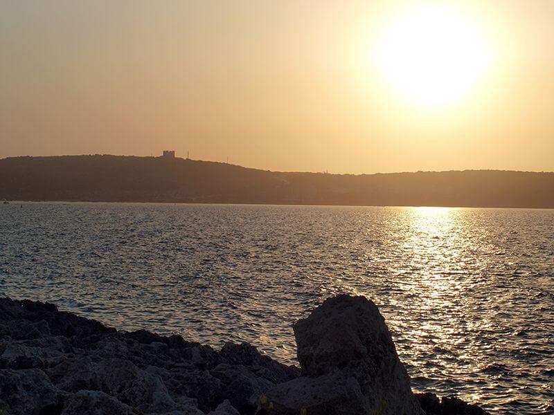 Puesta de sol desde Il-Mellieħa. Malta