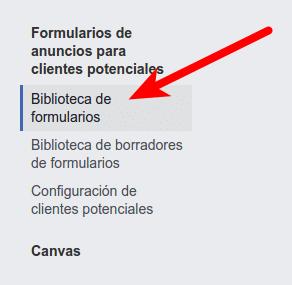 Biblioteca formularios Facebook