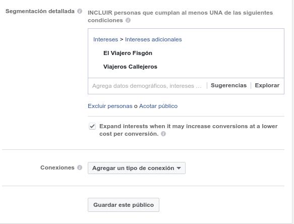 Segmentación de públicos Facebook Ads manager