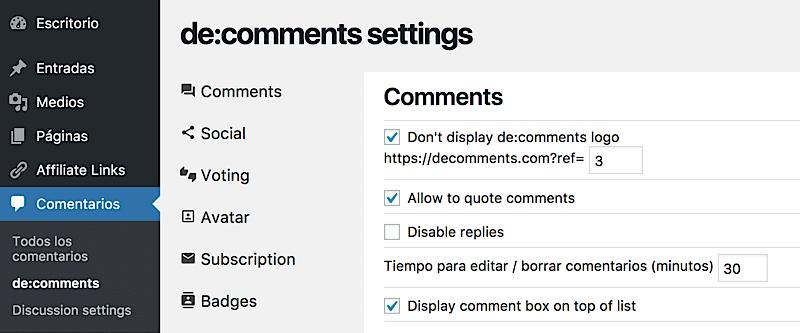 como aumentar comunidad blog configuración decomments