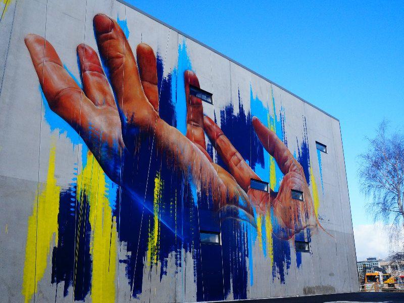 Graffiti en Christchurch Nueva Zelanda