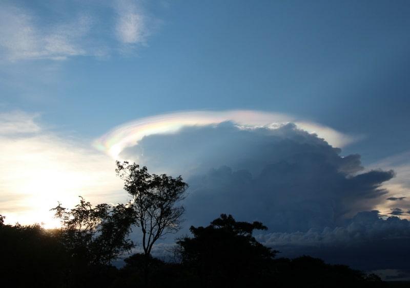 Zambian blue sky