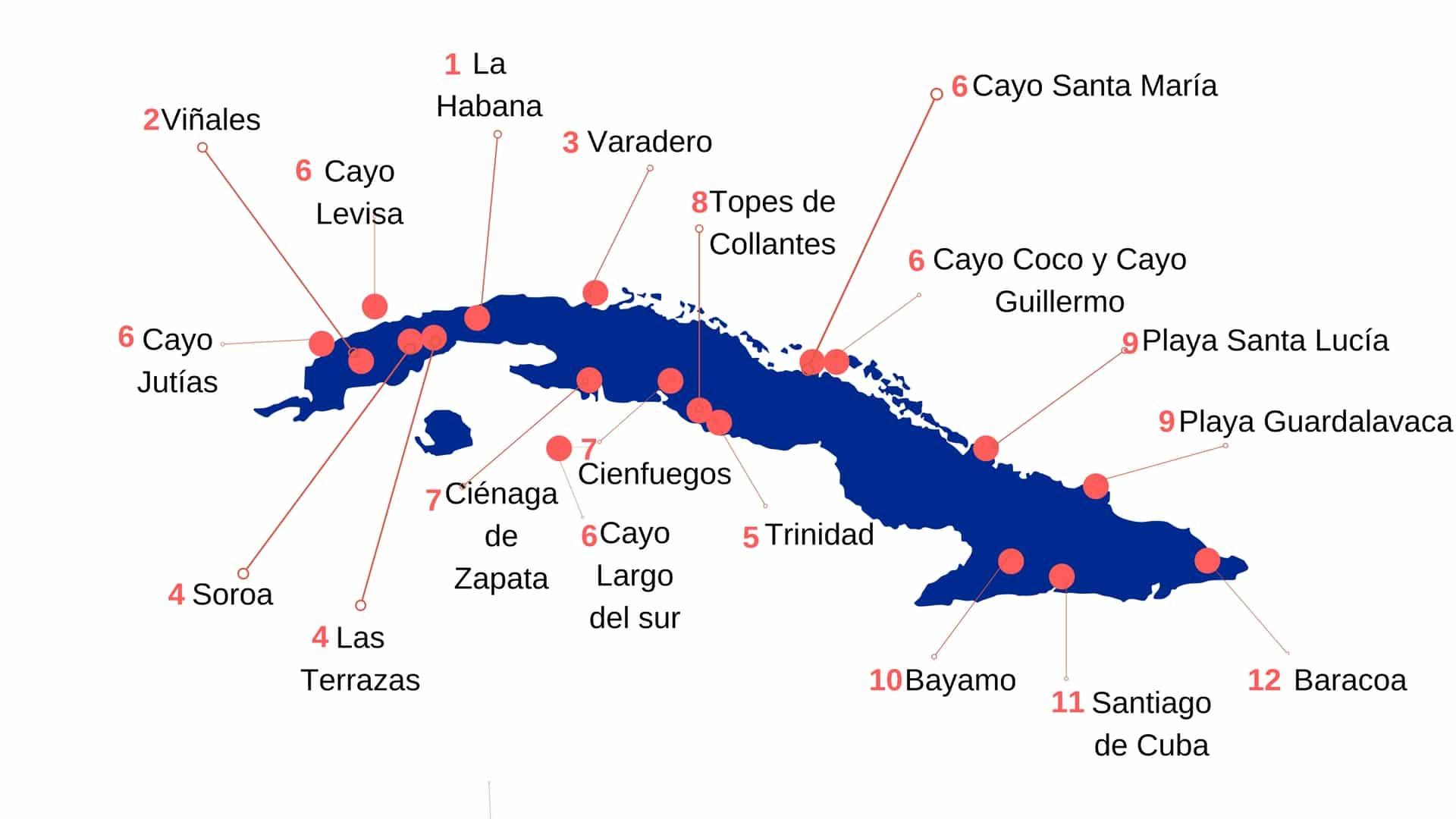 Viaje a Cuba: Qué lugares visitar