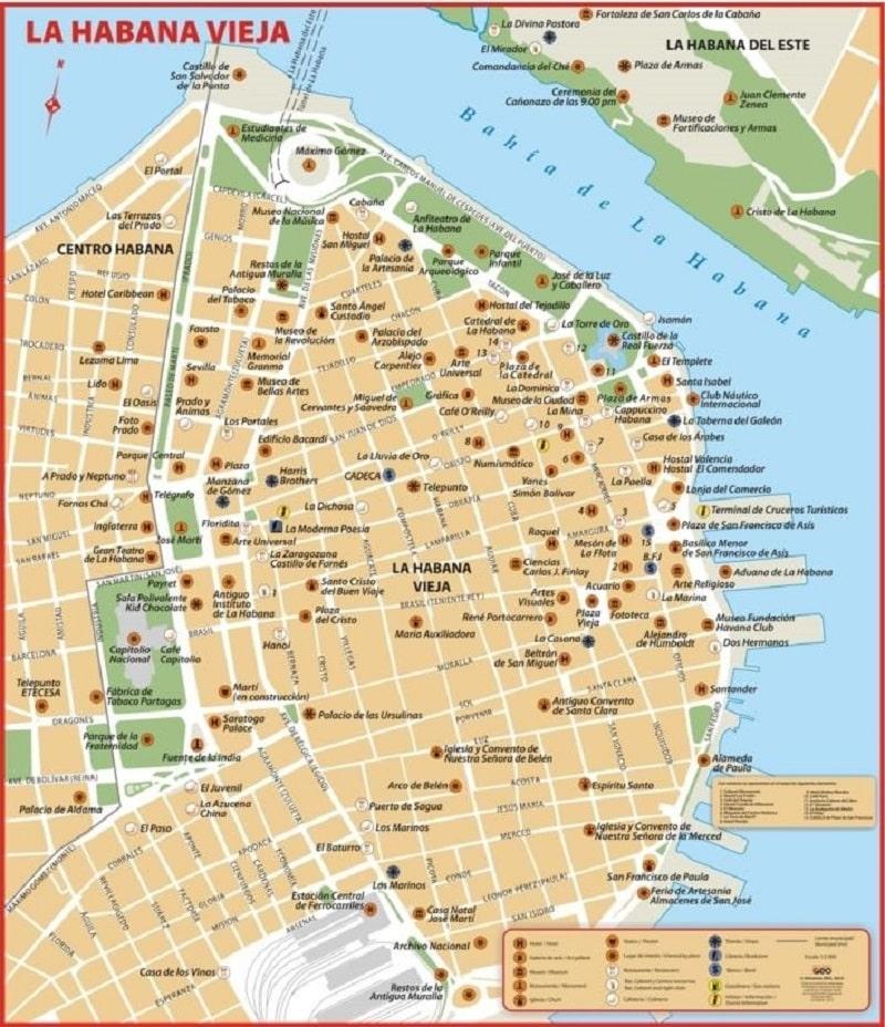 Qué hacer en Cuba: Mapa de la Habana Vieja