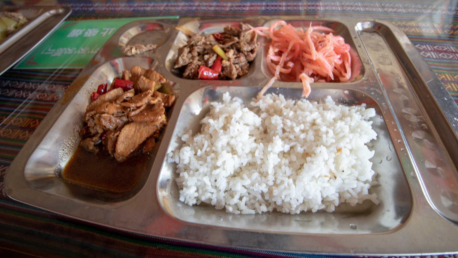 comida de un viaje al tibet