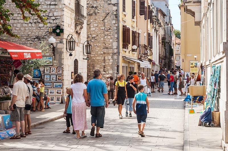 el centro de Zadar es algo que puedes ver en Zadar en un día