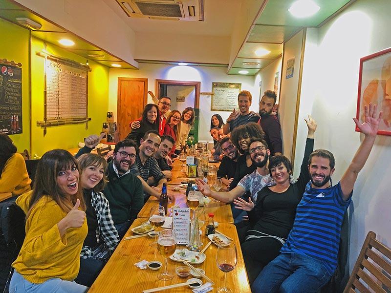 Quedada en Granada con los alumnos de la END