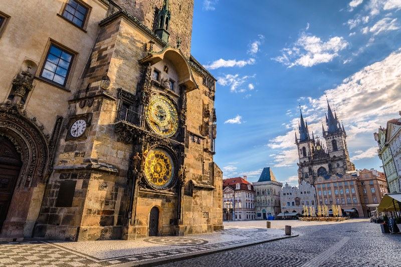 Al pie del Castillo de Praga.