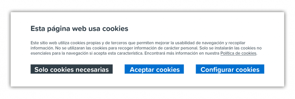 Informa sobre la politica de cookies para tener un blog legal correcto