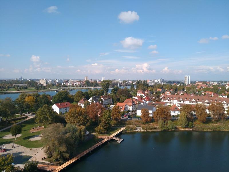 Las vistas desde la torre abarcan todo Estrasburgo y Kehl